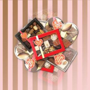 Mix van Chocolade bonbons - Hart